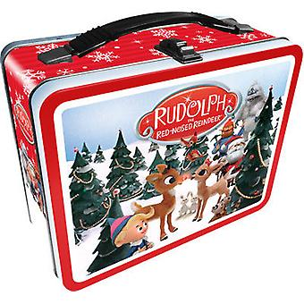 Lunch Box - Rudolph The Red - Nosed Reindeer Gen 2 Metal Tin Case New 48142