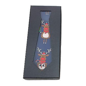 Krawatte Weihnachten Geschenk Box Hirsch