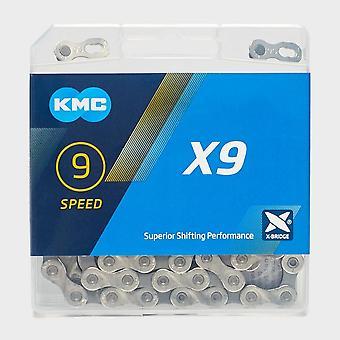 New KMC X9 Bike Chain Silver/Grey