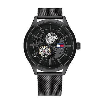 Tommy Hilfiger horloge 1791644-Mech-automatische Milanese Zwarte mesh mannen