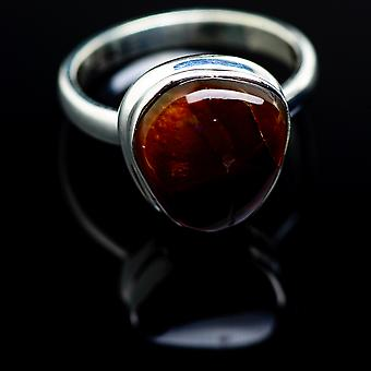 Mexicain Fire Agate Ring Taille 6,25 (925 Sterling Silver) - Bijoux Boho Vintage faits à la main RING988197
