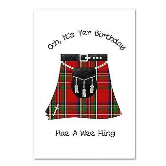 Embroidered Originals Kilt Fling - Birthday