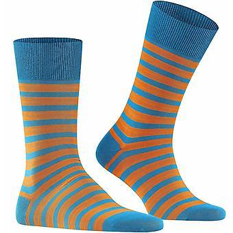 Falke Even Stripe Socks - Frost Blue