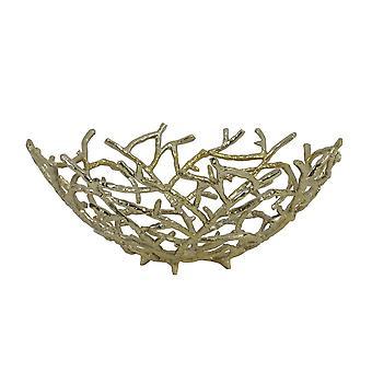 Light & Living Fruit Bowl 45x18.5cm Rahmi Gold