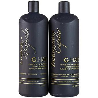 G.Hair Professional Moroccan Two Step Straightening Treatment - 1 Litre x 2