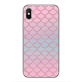 Mobile shell for iPhone11 with pink glittery mermaid pattern