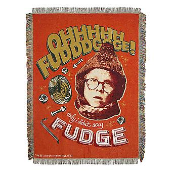 Woven Tapestry Throws - A Christmas Story - Oh Fudge New 022819