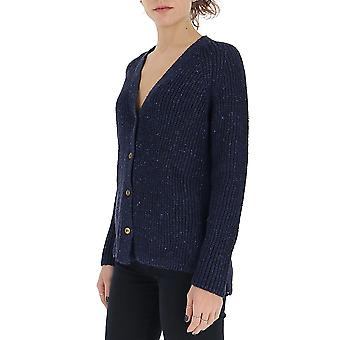 Gentry Portofino D704gtg006 Women's Blue Cotton Cardigan