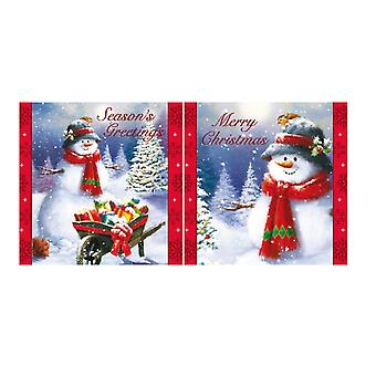 Eurowrap Christmas Snowman Acetate Cards (Box With 24 Packs Of 12 Greetings Cards)