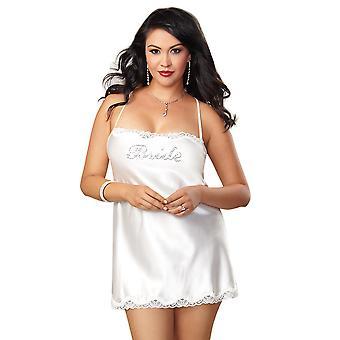 Plus grootte satijnen chemise van bruids lingerie