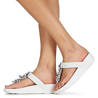 FitFlop Womens Jive Treasure Leather Open Toe Casual
