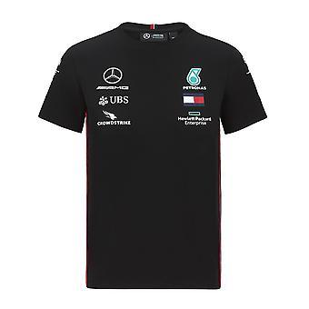 Mercedes AMG Petronas Kinder Replica Fahrer T-Shirt | Schwarz | 2020