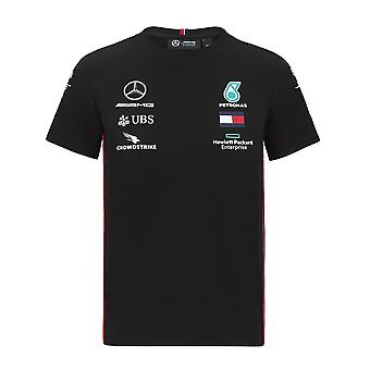Mercedes AMG Petronas Barn Kopi Driver T-skjorte | Svart | 2020