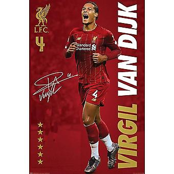 Liverpool FC, Maxi Plakat - Virgil Van Dijk