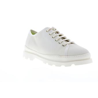 Camper Brutus  Mens White Canvas Lace Up Low Top Sneakers Shoes