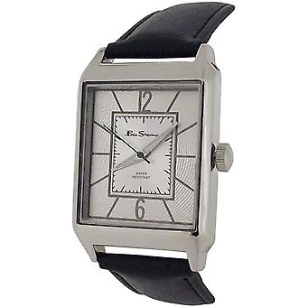 Ben Sherman Gents Textured Silver Dial Black PU Strap Dress Watch BS097