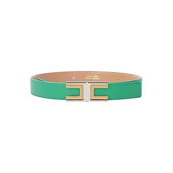 Elisabetta Franchi Ct02s01e2124 Women's Green Leather Belt