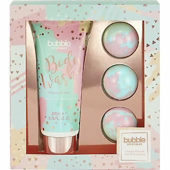 Style & Grace Bubble Boutique Bath Bombed Gift Set 4 Pieces (This gift set includes:  1 x 200ml Body Wash 3 x 80g Fizzers)