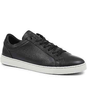 Jones Bootmaker Mens Tobias Leather Lace-Up Trainer
