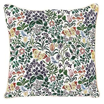 Voysey - spring flowers cushion cover by signare tapestry / 18in x 18in / ccov-spfl