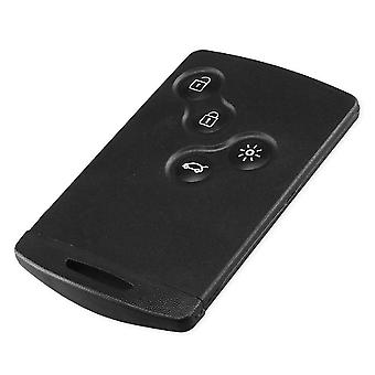 4 button smart card case car shell with key Renault