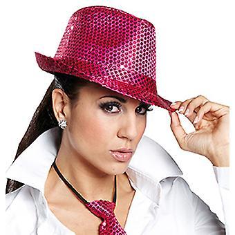 Rosa paillettes cappello