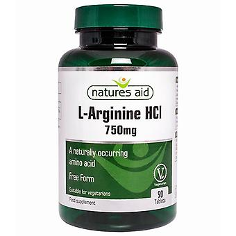 Nature's Aid L-Arginin HCl 750mg Tabletten 90 (132230)
