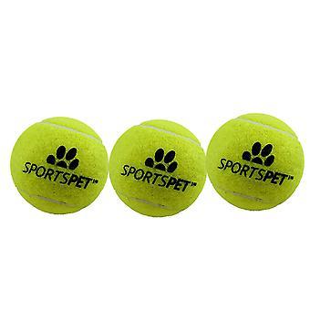 Sportspet Tennis Ball (Pack Of 3)