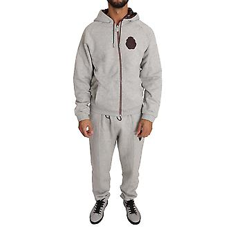 Gray cotton sweater pants tracksuit a19