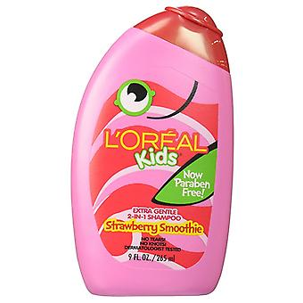 L'oreal kids extra gentle 2-in-1 shampoo, strawberry smoothie, 9 oz