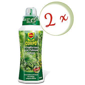 稀疏:2 x COMPO绿色植物和棕榈肥,500毫升
