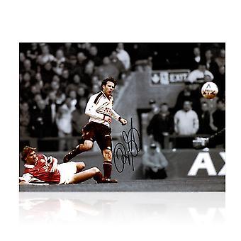 Ryan Giggs Allekirjoitettu Manchester United Mono Kuva: FA Cup semifinaali Wonder Goal
