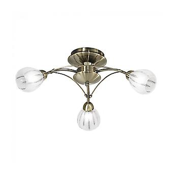 Bronze Ceiling Lamp Chloris 3 Bulbs