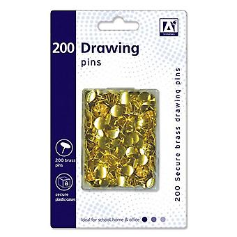 Anker Drawing Pins In Hardcase (Pack of 200)
