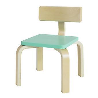 SoBuy KMB29-HB, Kinderstuhl, Holz Kinder-Kinderstuhl mit Rückenlehne, Kinderzimmer Stuhl, grüner Sitz