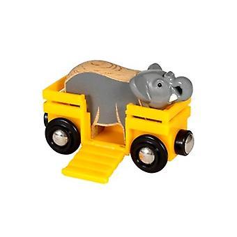 BRIO Safari Elephant et Wagon 33969 accessoire pour wooden Train Set