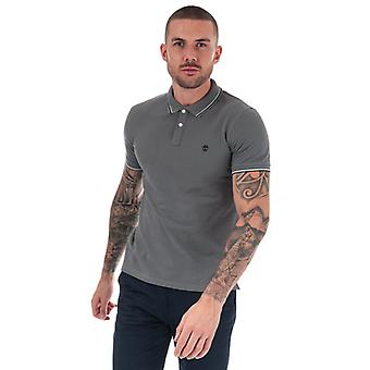 Men's Timberland Millers River Tipped Polo Shirt in grau