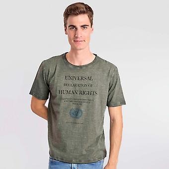 T-Shirt texto Kaki