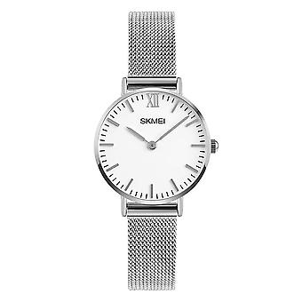 Skmei Women's Silver Ultra Thin Classic Watch Mesh Comfort Metal Strap Clear Display SK1811RG