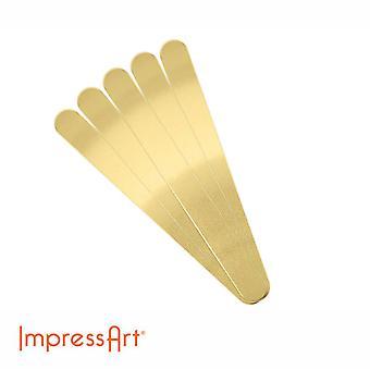 ImpressArt 15cm Längd Mässing Cuff Bangle Blanks, olika storlekar tillgängliga
