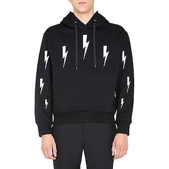 Neil Barrett Pbjs655sp527s524 Men's Black Viscose Sweatshirt
