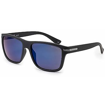 Bloc Eyewear Tide Matt Black Sunglasses (Blue Mirror Cat 3 Lens)