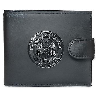 Celtic FC Official Football Gift Boxed Crest Leather Portefeuille