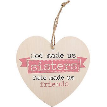 Etwas anderes Gott hat uns Schwestern hängen Herzschild