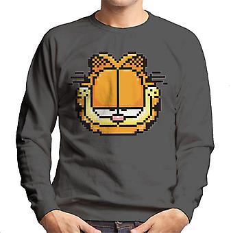 Garfield Pixelated Smug Look Men's Sweatshirt