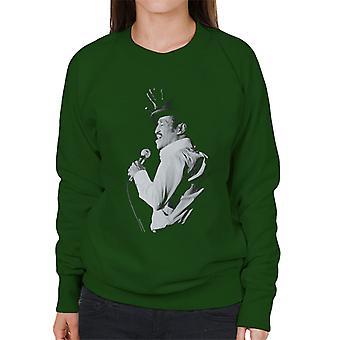 Sammy Davis Jr Performing Hand In The Air 1982 Women's Sweatshirt
