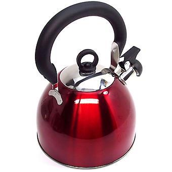 Kabalo 3L röd rostfritt stål visslande kettle stove top hob köksutrustning te kaffe camping