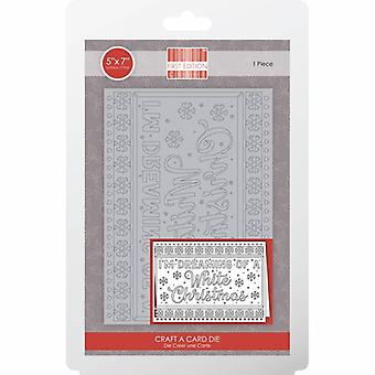 First Edition Christmas Craft A Card Die - White Christmas