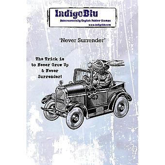 IndigoBlu Never Surrender A6 Rubber Stamp