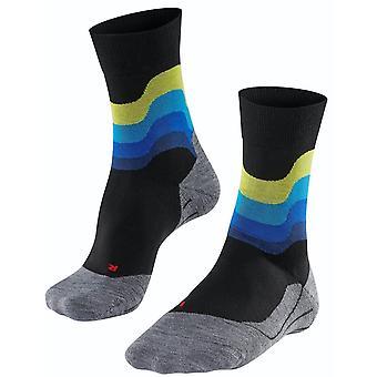 Falke Running 4 Wave Socks - Black/Blue/Yellow